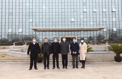 The Deputy District Head of JinShan District Wu Ruidi visit Hikari company to guide epidemic prevention and control, resumption of work and production.